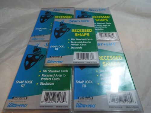 LOT OF 5 RECESSED SNAPS PRODUCED BY ULTRA PRO