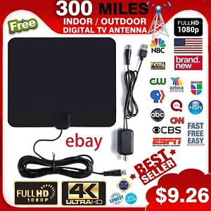 1080P Antenna TV Digital HD Skylink 4K Antena Indoor Digital HDTV 300 Mile Range
