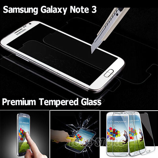 New Tempered Glass Screen Protector Film Guard for Samsung Galaxy Note 3