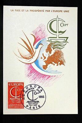 Diverse Philatelie Briefmarken Nett Europa Rat Der Europa Frankreich Cpa Postkarte Maximum Yt 1490 NüTzlich FüR äTherisches Medulla