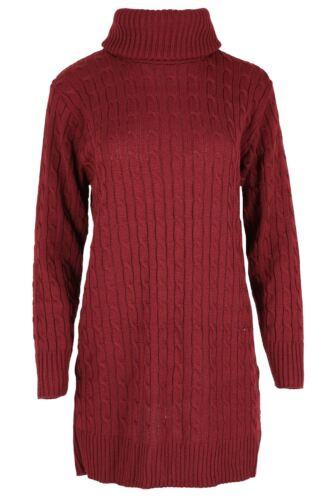 Exclusive Femmes à manches longues de capot Polo Câble Robe Pull en mailles haut 8-26