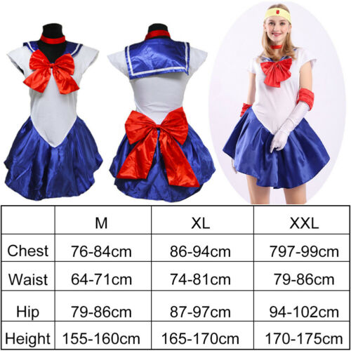 Sailor Moon Costume Fancy Dress Up Party Outfit Glove Uniform Cosplay Sailormoon