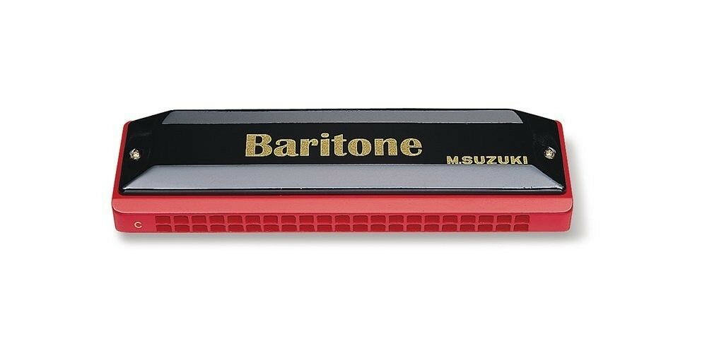 Suzuki BR-21-C Baritone Harmonica Key C brass ABS body Musical Instrument BR-21