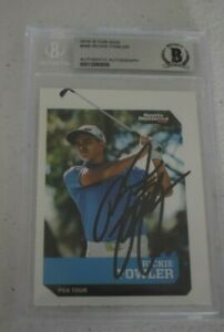 Rickie-Fowler-SIGNED-BGS-Sports-Illustrated-Card-PGA-golf-ball-flag-2016-BAS