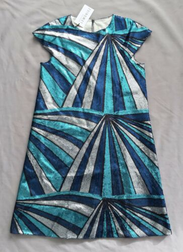 NWT senorita LEMONIEZ GIRLS BLUE SEQUINS DRESS SZ 14