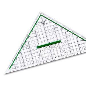 M+R 2332 Geometriedreieck 32 cm mit Griff glasklares Polystyrol