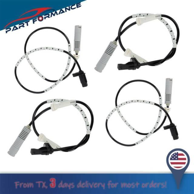 4pcs FRONT /& REAR LEFT RIGHT ABS Wheel Speed Sensor for BMW E82 128i E90 328i