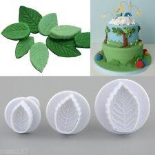 """Lot de 3 Moules Multi Forme """"Feuille"""" Patisserie Gateau Fondant Cake Sablé"""