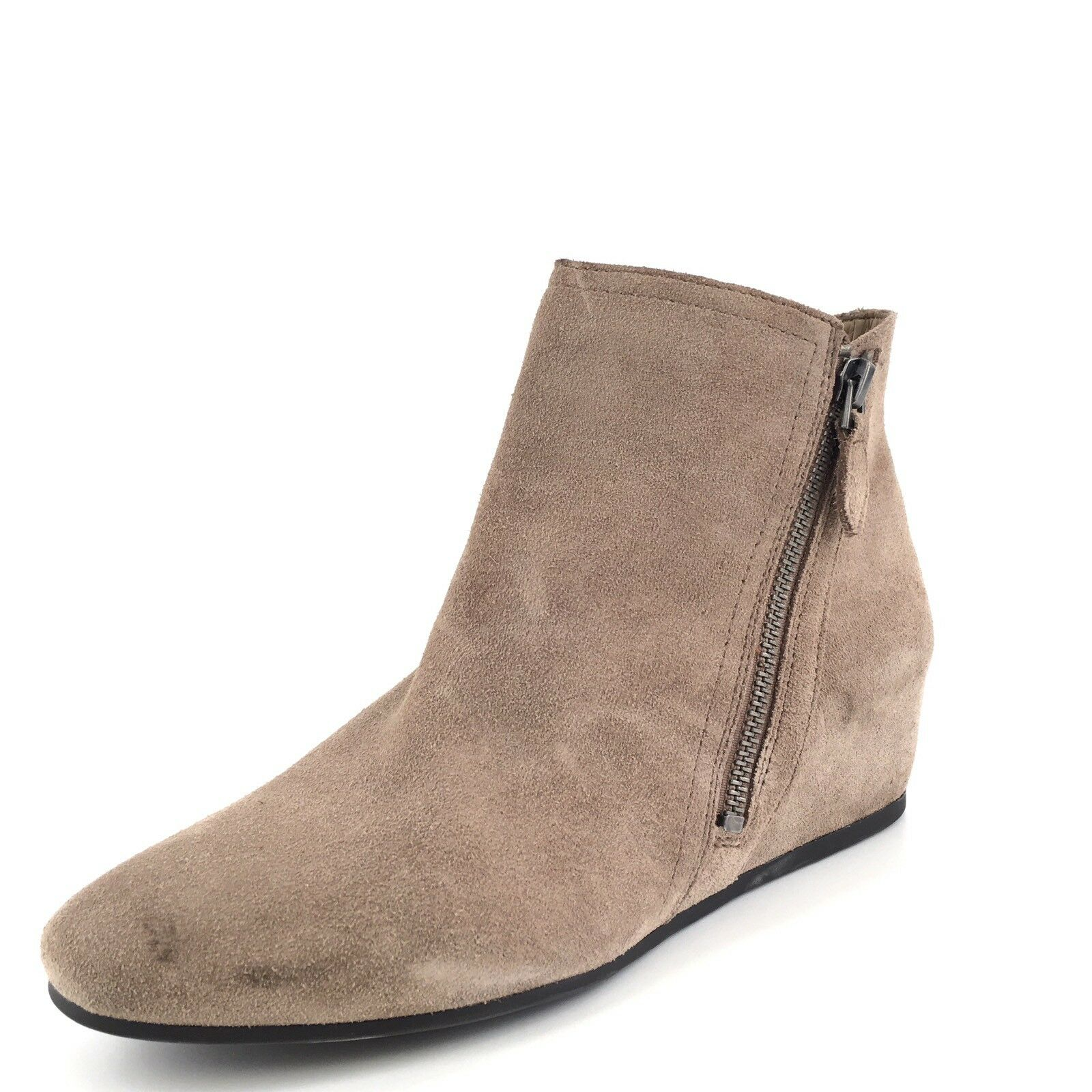 Franco Sarto Violetta Taupe Suede Ankle Boots Women's Size 6.5 M *