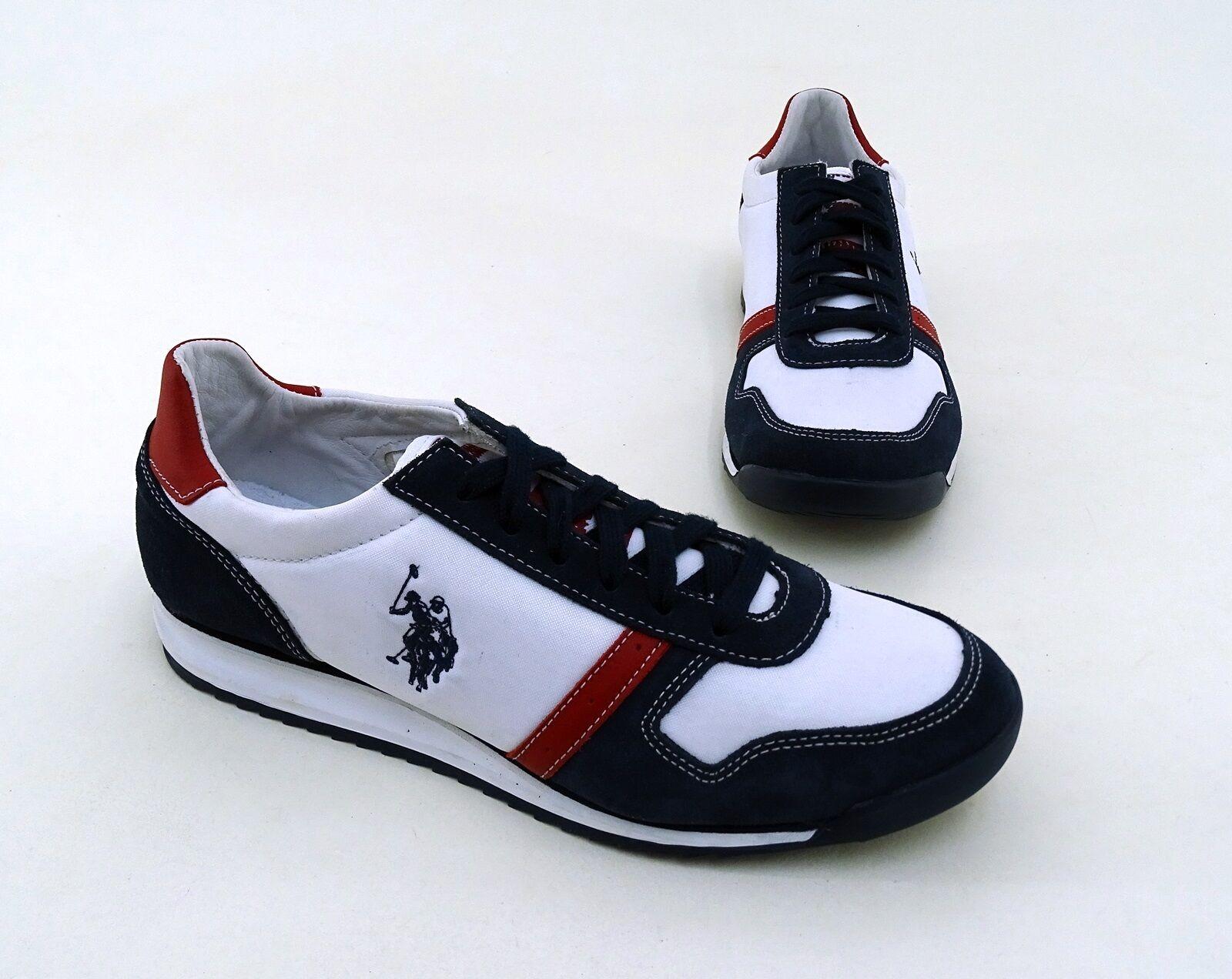 Sneaker U.S. Polo ASSN. Schnürer Echtleder Textil mehrfarbig Gr. 8 = 42