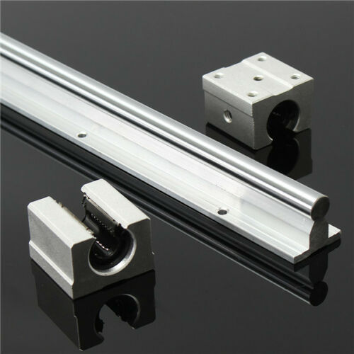 SBR12 800mm Supported Linear Rails Shaft Rod With 2pcs SBR12UU Block Bearing