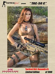 Tactical Girls Kasandra TAC-50 C Signed Poster LTD Edition USMC SEAL Army