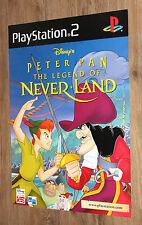 Disney's Peter Pan - Legend of Neverland rare Promo Poster 59x42cm Playstation 2