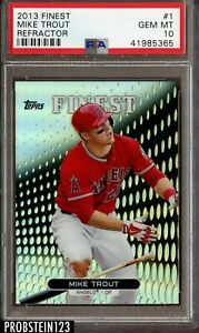 2013-Topps-Finest-Refractor-Mike-Trout-Angels-PSA-10-GEM-MINT