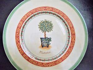 VILLEROY-amp-BOCH-Salad-Plate-Festive-Memories-Topiary-MISTLETOE-Germany-Porcelain