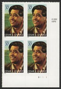 #3781 CESAR Chavez, Placa Bloque [B1111 LR ] Nuevo Cualquier 5=