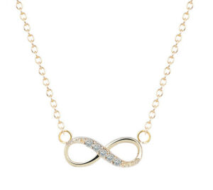Stainless-Steel-Infinity-Love-Charm-Womens-Beauty-Jewelry-Durable-Necklace-Gift
