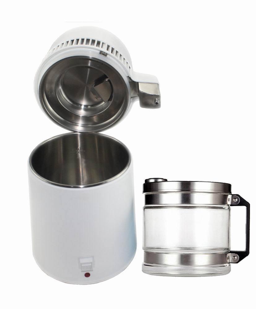 Dental Water Distiller Pure Purificateur d'acier inoxydable Filtre bouchon de bouteille en verre 4 L