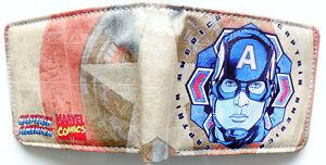 Avengers-Captain-America-Shield-Portemonnaie-Geldbeutel-Auswahl-2-Stile