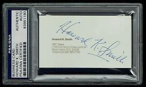 Howard K. Smith (d 2002) signed autograph Business Card ABC News Anchorman PSA