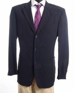 HUGO BOSS Sakko Jacket Angelico Gr.52 schwarz uni Einreiher 3-Knopf -S526