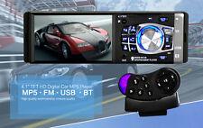Bluetooth IN Dash Car HD Stereo MP5 Player 1 DIN AUX FM Audio Video RCA Output