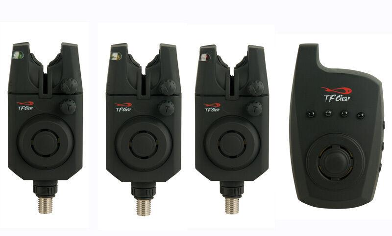 TF Gear reacción nuevo morder  la alarma Set 3 Alarmas + Receptor bitealarm Remoto Ex Demo  barato y de alta calidad