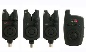 TF-Gear-NEW-Reaction-Bite-Alarm-Set-3-Alarms-Receiver-Bitealarm-Remote-Ex-Demo