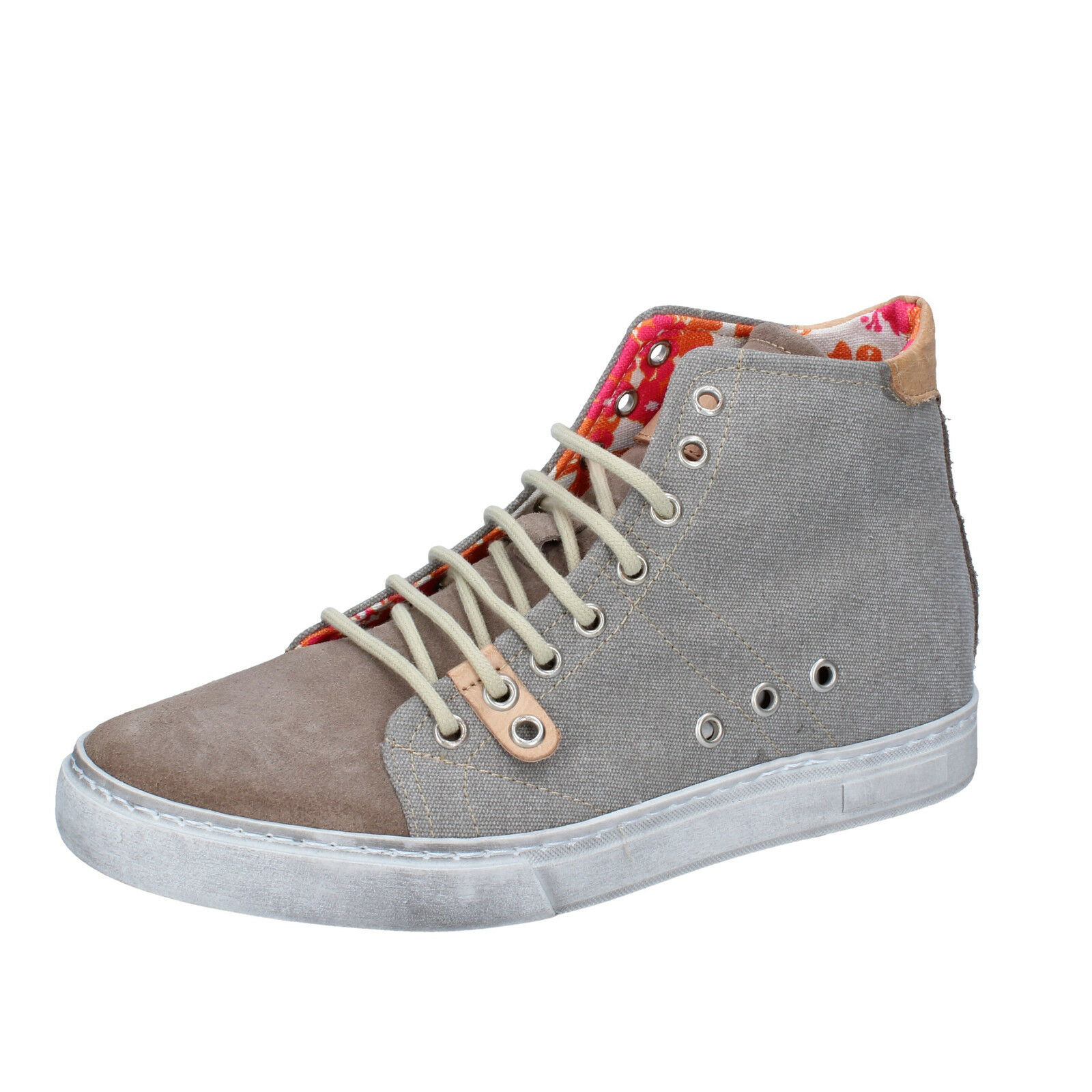 Mens shoes NYON BY CORAF 7 (EU 41) sneakers beige textile suede BY86-C
