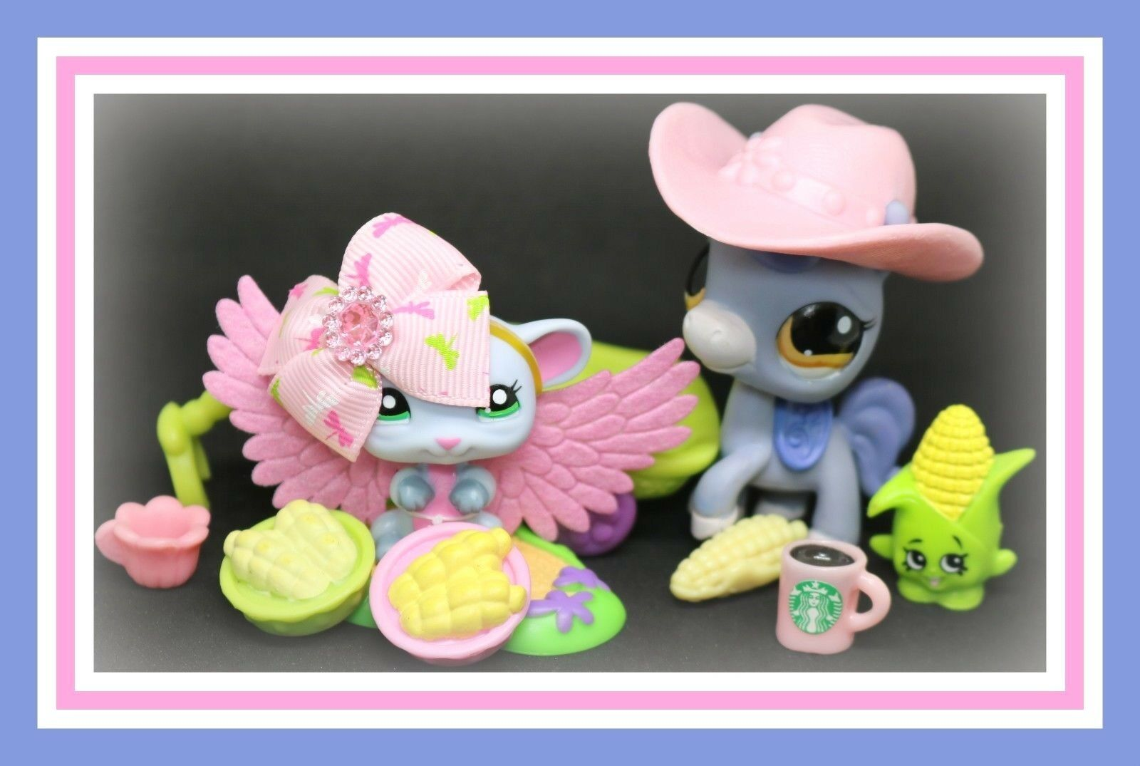 ️Authentic Littlest Pet Shop LPS Baby Baby Baby bluee Pink Blind Bag MOUSE & PONY ️ fa99dc