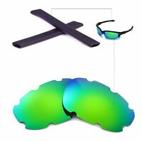 Wl Polarized Emerald Vented Lenses And Black Earsocks 4 Oakley Split Jacket