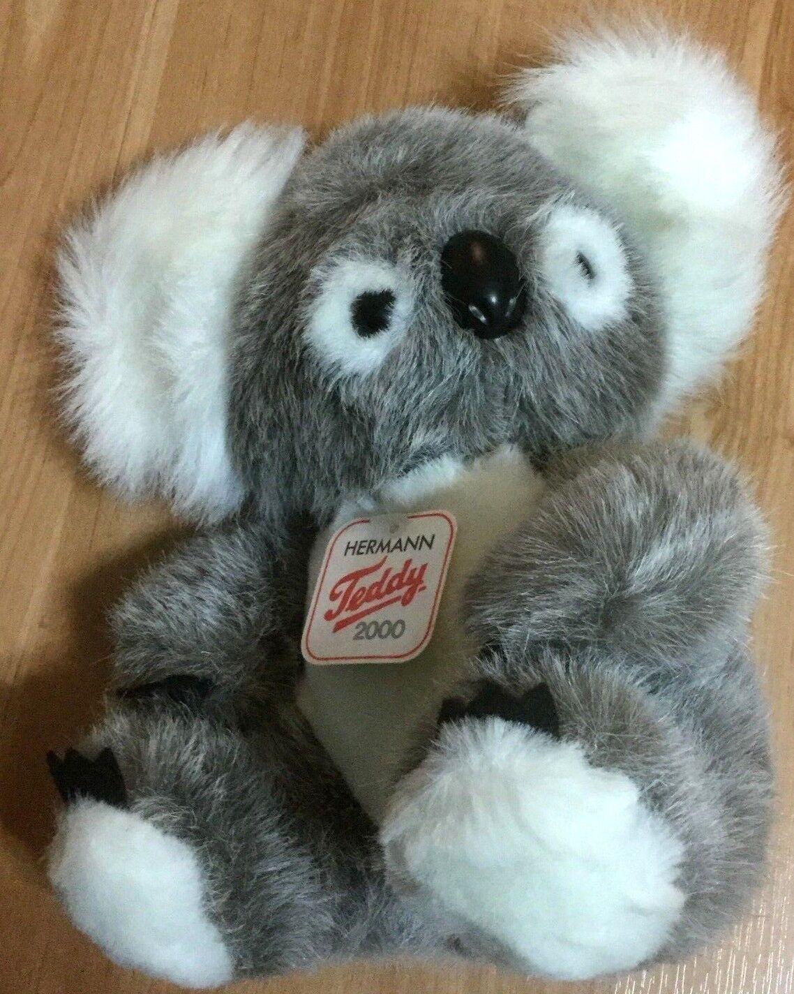 NWT Hermann Original Teddy Koala Bear Woven Fur Plush Teddy New  w Tags 10  26cm