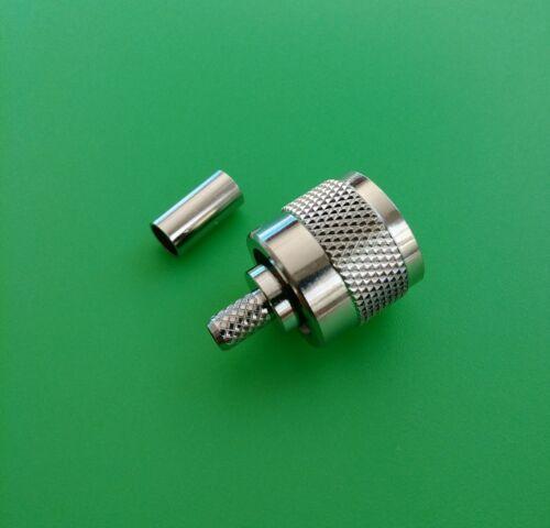 USA Seller 10 SETS UHF Male Crimp Type RG58//RG58U//RG142//LMR195 Connector