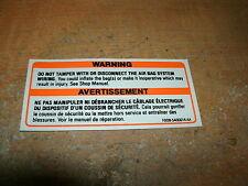 1990 - 1993 FORD THUNDERBIRD TAURUS PROBE ESCORT AIR BAG WARNING DECAL STICKER