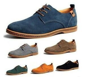 NEW-2017-Suede-European-style-leather-Shoes-Men-039-s-oxfords-Casual-Shoes-Fashion