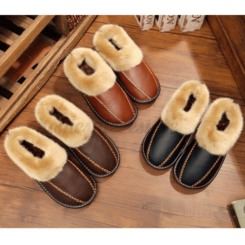 Estro Mens Slippers Men House Shoes Leather Home Mule Men/'s Slipper Memory...