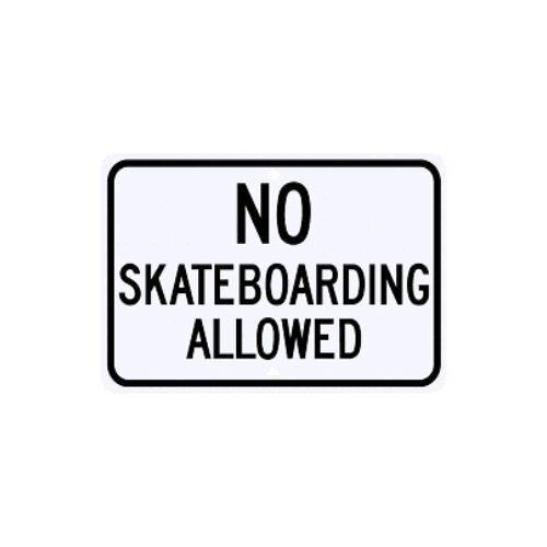 Street Parking G-48RA5RK No Skateboarding Allowed Sign Municipal Grade D.O.T