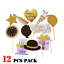 12pcs-set-DIY-Photo-Booth-Props-Mask-Stick-Wedding-Birthday-Party-Decorations thumbnail 1