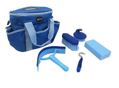 Abile Knight Rider Cavallo / Pony Blu Grooming Kit, Completa Con Sacchetto E Accessori- Merci Di Convenienza