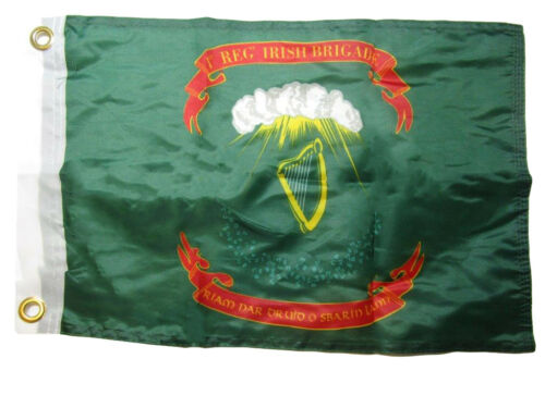 """12x18 12/""""x18/"""" 1st Irish Brigade 100/% Polyester Motorcycle Boat Flag Grommets"""