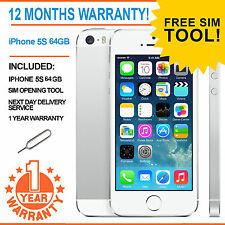 Apple iPhone 5s 64GB Factory Unlocked - White / Silver