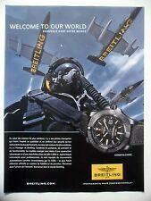 PUBLICITE-ADVERTISING :  BREITLING Avenger Blackbird (1)  2014 Montres,Avions