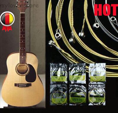 6er Set Stahl Saiten Gitarrensaiten für Akustikgitarre Westerngitarre 150XL DE