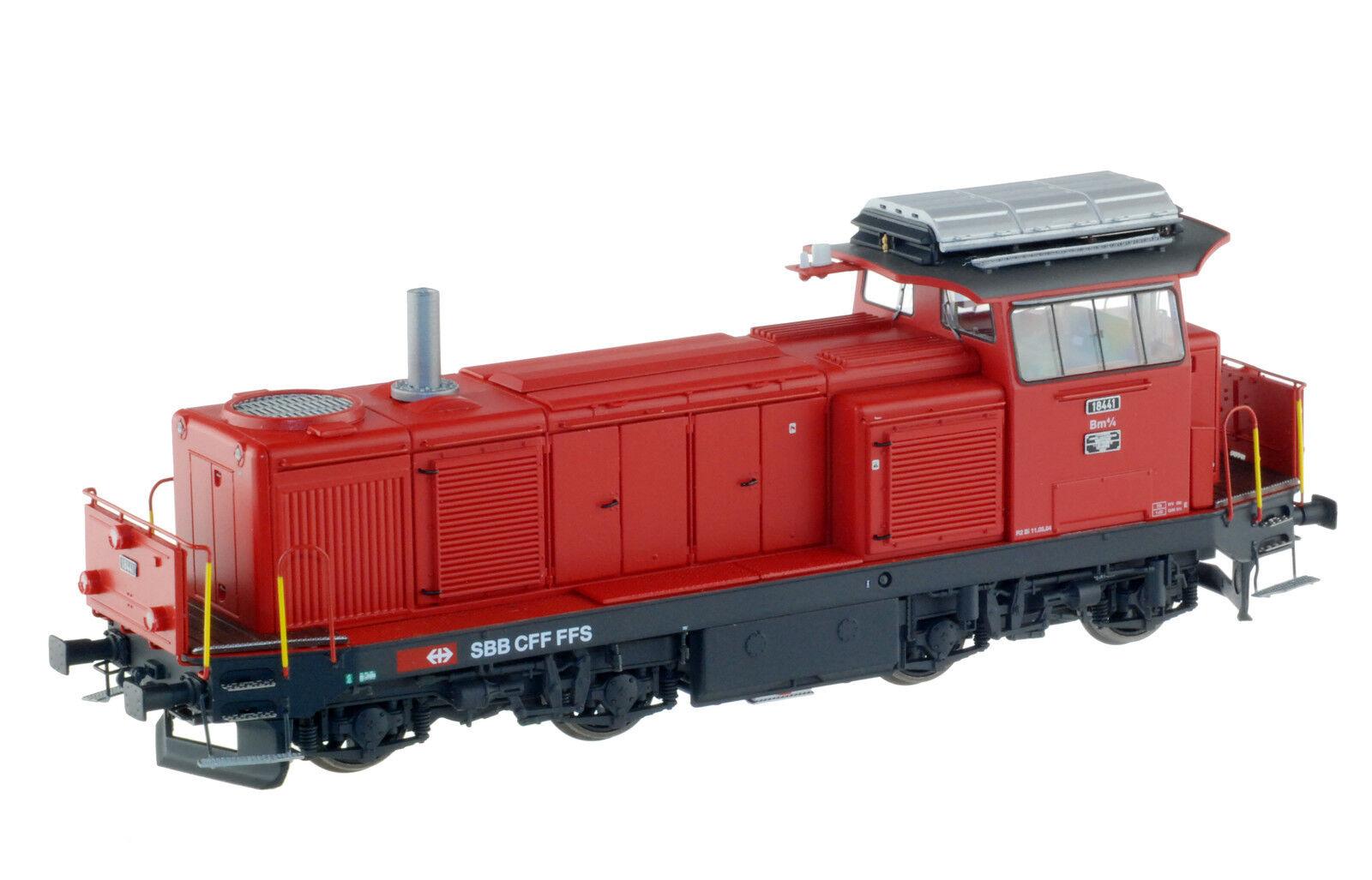 LS Models 17065s SBB CFF FFS bm4/4 Diesel-Lok rosso logo nuovo ep4-5 SOUND NUOVO + OVP