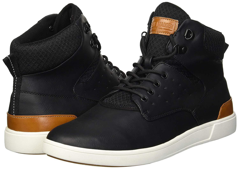 Steve Madden Men's Black Fridged Sneaker US Size 10.5