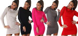 Caricamento dell immagine in corso Pullover-lungo-maglia-donna-mini-abito -decoro-uncinetto- a1473c61c6d