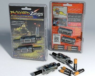 New 2020 The Official Backyard Zings Flashing Cricket Bails