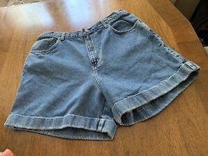 VTG Calvin Klein Womens Mom Jean Jeans SHORTS Cuff 15/16 High Waisted