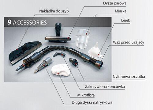 Pulitore a Vapore Sanificatore Vaporella Portatile 1500W con Accessori Vaporetto