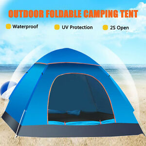 Image is loading 2-3-Person-Waterproof-Outdoor-Automatic-Pop-Up-  sc 1 st  eBay & 2-3 Person Waterproof Outdoor Automatic Pop Up Tent Beach Camping ...